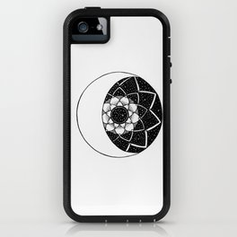 Crescent Moon Mandala iPhone Case