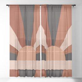Abstraction_SUN_Bohemian_Minimalism_001 Sheer Curtain