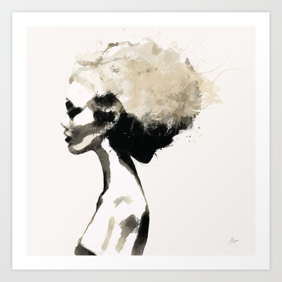 Serene - Digital fashion illustration / painting Art Print