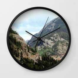 Driving the Spectacular, but Perilous Uncompahgre Gorge, No. 2 of 5 Wall Clock