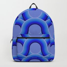 Rollin' Retro Road in Blue Ombre  Backpack
