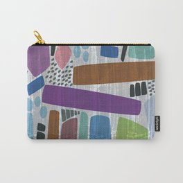 Abstract print, mid century style vintage looking pattern Carry-All Pouch