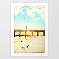 boardwalk empire Art Prints featuring Boardwalk by Mina Teslaru