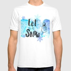 Let it Snow Mens Fitted Tee MEDIUM White