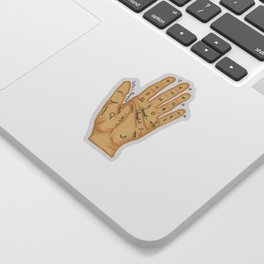 Hand Fortune Lines   Palm Reading Sticker