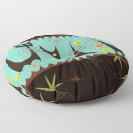 Atomic Cats Floor Pillow