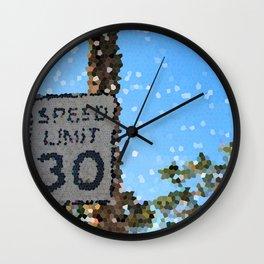 30 MPH Wall Clock