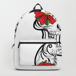 Day of the Dead Skull graphic Calavera Cinco de Mayo design Backpack