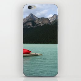 Lake Louise Red Canoes iPhone Skin