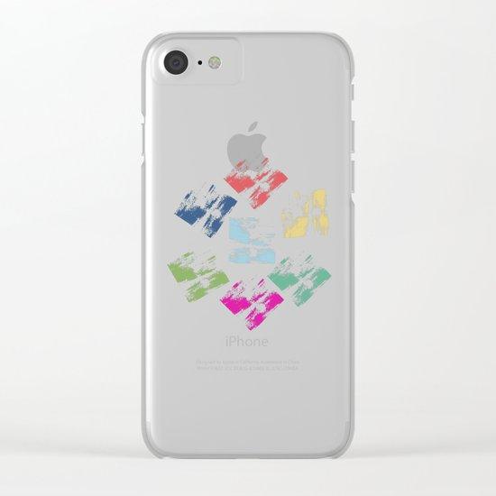 Colorful Geometric Patterns II Clear iPhone Case