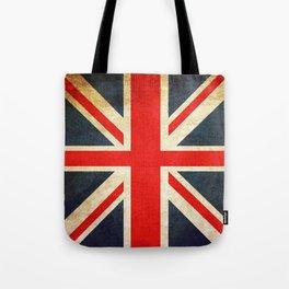Vintage Union Jack British Flag Tote Bag
