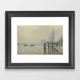 Claude Monet - The Thames Below Westminster Framed Art Print