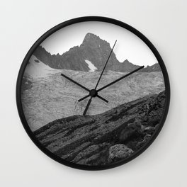 Alps Mountains Glassier Landscape Wall Clock