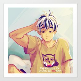 sleep bokuto Art Print