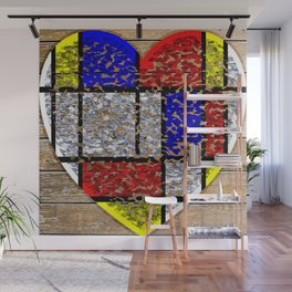 Flaky Heart Wall Mural