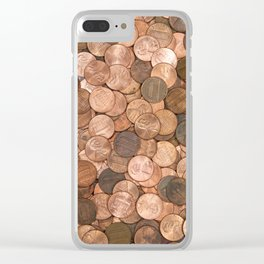Pennies for your thoughts Clear iPhone Case