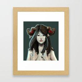 Aries girl Framed Art Print