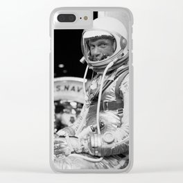 John Glenn Wearing A Space Suit Clear iPhone Case