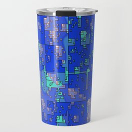 Abstract Blue Cityscape Travel Mug