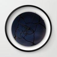 interstellar Wall Clocks featuring InterStellar by Fiber