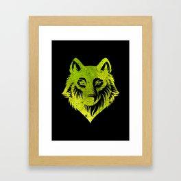 Galaxy Wolf Framed Art Print