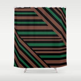 Geometric pattern Striped triangles 3 Shower Curtain