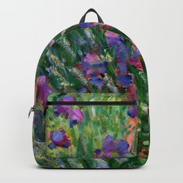 "Claude Monet ""The Iris Garden at Giverny"", 1899-1900 Backpack"