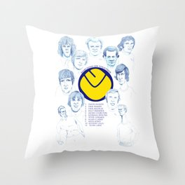 LEEDS UNITED 1972 Throw Pillow