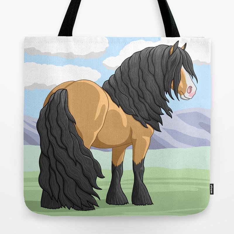 Buckskin Gypsy Vanner Draft Horse Tote Bag By Csforest Society6