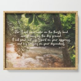 Isaiah 44 3 #bibleverse #scripture Serving Tray