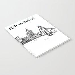 Ink Sketch Pittsburgh Skyline Notebook
