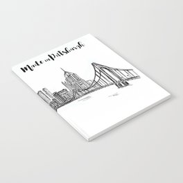 Ink Sketch Pittsburgh Skyline Notebook