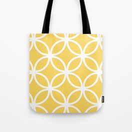 Yellow Geometric Circles Tote Bag