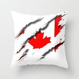 Canada Shredding Throw Pillow