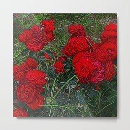 Red Roses by Lika Ramai Metal Print