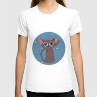 space cat T-shirts featuring Space cat by Alex Fabri
