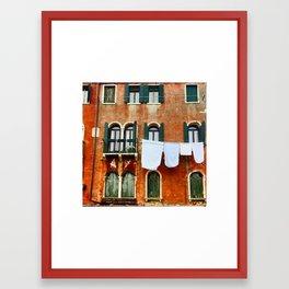 Venice Laundry Framed Art Print