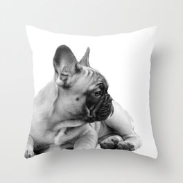 FrenchBulldog Puppy Throw Pillow