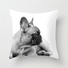 FrenchBulldog Puppy Throw Pillow