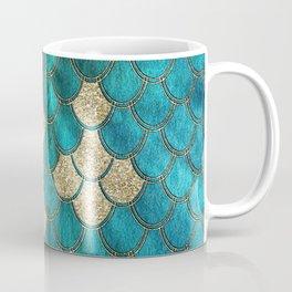 Multicolor Aqua And Gold Mermaid Scales -  Beautiful Abstract Pattern Coffee Mug
