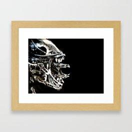 Alien in Chalk Framed Art Print