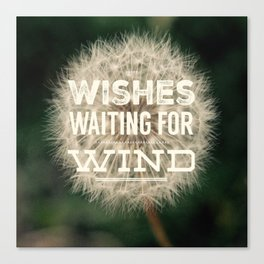 Wishes waiting for wind Canvas Print