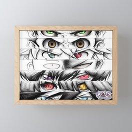 Anime Eyes Pencil Framed Mini Art Print