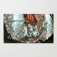 Zombie Catocalypse Canvas Print