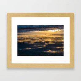 Golden Chimney Framed Art Print