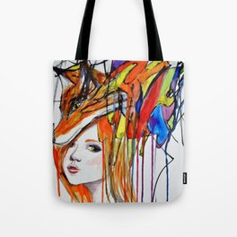 The Lady and the Fox Tote Bag
