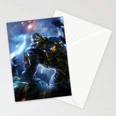 Robot fighter Stationery Cards
