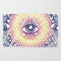 illuminati Area & Throw Rugs featuring Native Illuminati by Uprise Art & Design