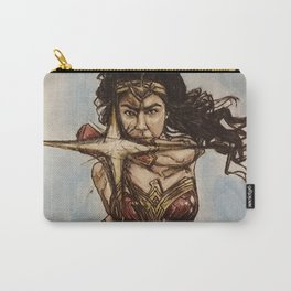 WonderWoman, watercolor painting Carry-All Pouch