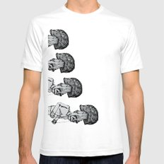 A Walk in the Park v2 MEDIUM Mens Fitted Tee White